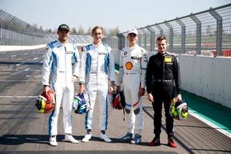 Rookies 2019, Jake Dennis, R-Motorsport, Ferdinand Habsburg, R-Motorsport, Shelton van der Linde, BMW Team RBM, Jonathan Aberdein, Audi Sport Team WRT