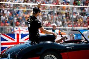 Romain Grosjean, Haas F1, in the drivers parade