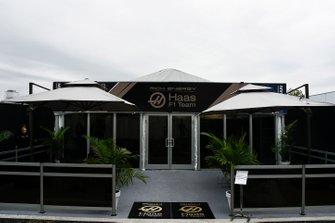 The Haas team's hospitality area