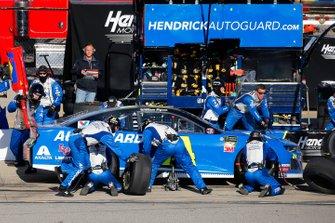 William Byron, Hendrick Motorsports, Chevrolet Camaro Hendrick Autoguard pit stop