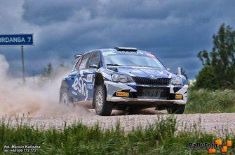 Lukasz Habaj, Daniel Dymurski, Skoda Fabia R5, Rally Liepaja, FIA ERC