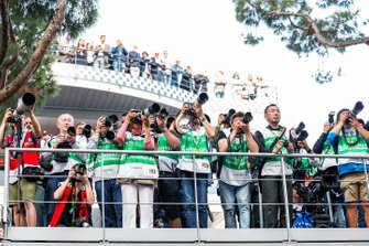 Photographers capture the podium celebrations