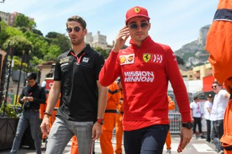 Romain Grosjean, Haas F1, and Charles Leclerc, Ferrari