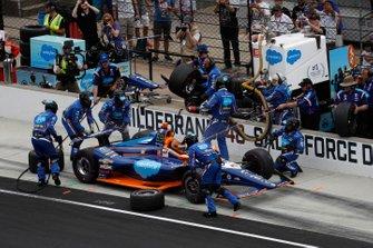JR Hildebrand, Dreyer & Reinbold Racing Chevrolet, au stand