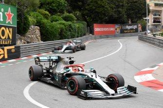 Valtteri Bottas, Mercedes AMG W10, leads Valtteri Bottas, Mercedes AMG W10