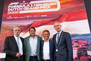 Chase Carey, Président de la F1, Hans-Erik-Tuijt, Jan Lammers, Niek Meijer