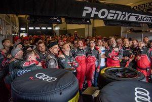 Team of #4 Audi Sport Team Phoenix Audi R8 LMS: Pierre Kaffer, Frank Stippler, Frédéric Vervisch, Dries Vanthoor