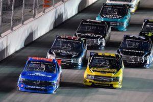 Stewart Friesen, Halmar Friesen Racing, Chevrolet Silverado Halmar International and Grant Enfinger, ThorSport Racing, Ford F-150 Champion Power Equipment
