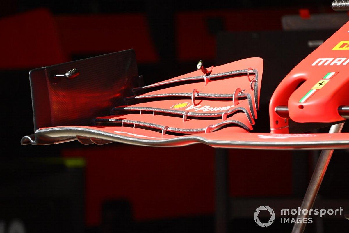 Detalle técnico del Ferrari