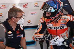 Alex Marquez, Repsol Honda Team, mit Ramon Aurin