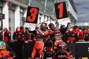Race winner Scott Redding, Aruba.it Racing Ducati, third place Chaz Davies, ARUBA.IT Racing Ducati