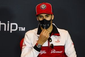 Antonio Giovinazzi, Alfa Romeo, in a Press Conference