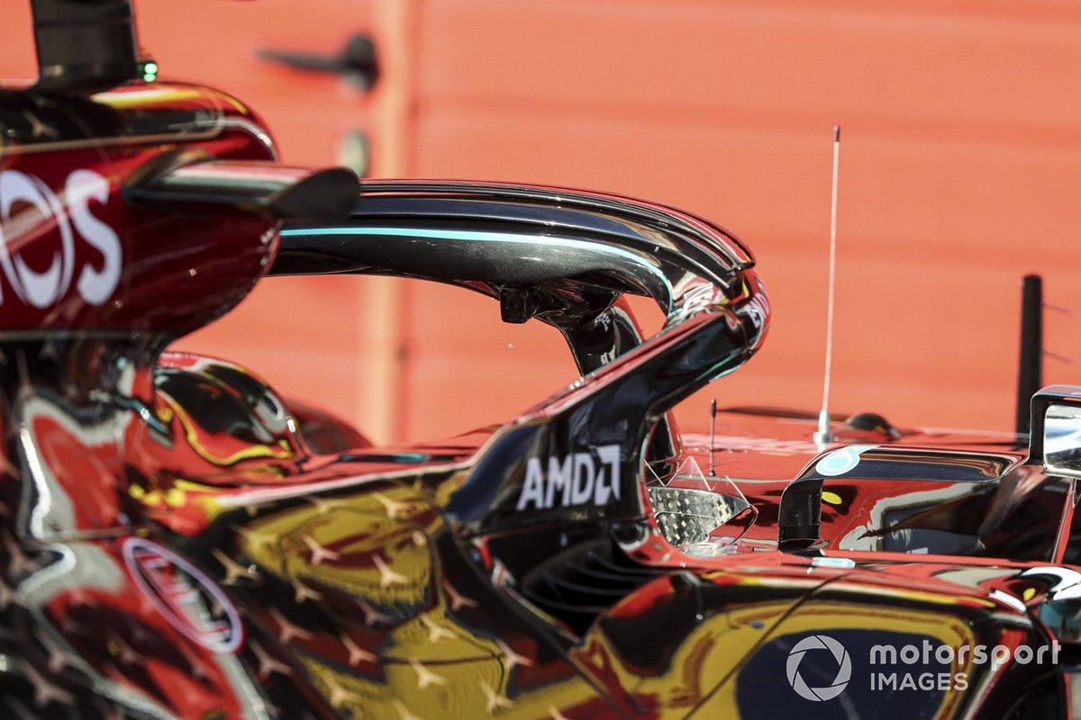 El Halo del coche de Valtteri Bottas, Mercedes F1 W11