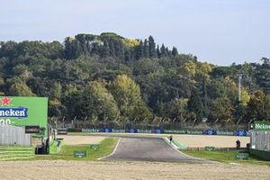 A forest backdrop at the circuit