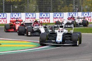 George Russell, Williams FW43, Antonio Giovinazzi, Alfa Romeo Racing C39, and Sebastian Vettel, Ferrari SF1000