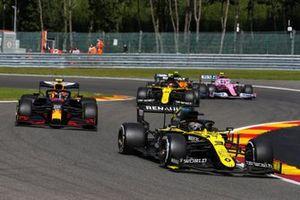 Daniel Ricciardo, Renault F1 Team R.S.20, Alex Albon, Red Bull Racing RB16, Esteban Ocon, Renault F1 Team R.S.20