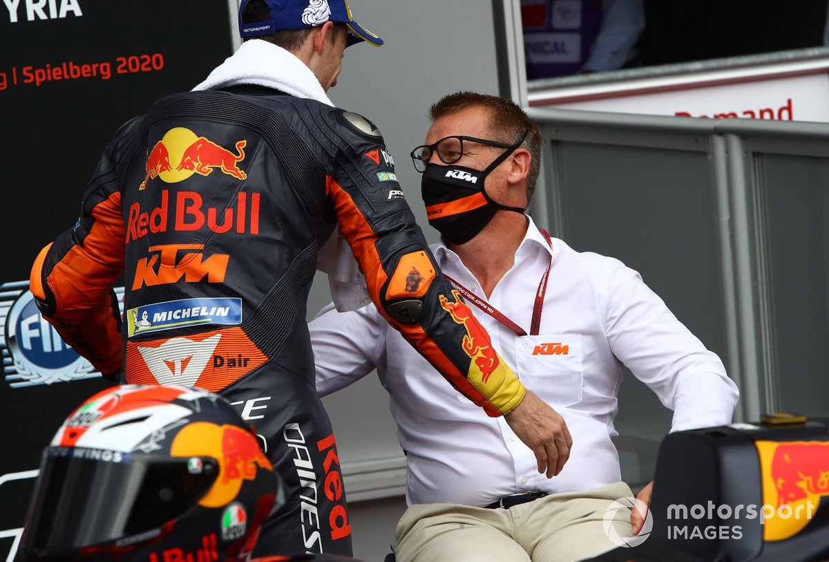 Pol Espargaro, Red Bull KTM Factory Racing, Pit Beirer