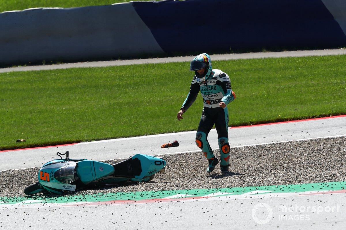 Jaume Masia, Leopard Racing caida