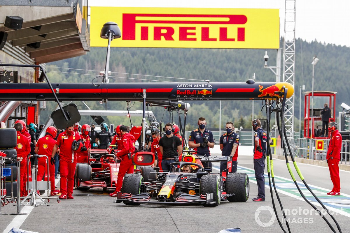 Parada en boxes de Red Bull Racing