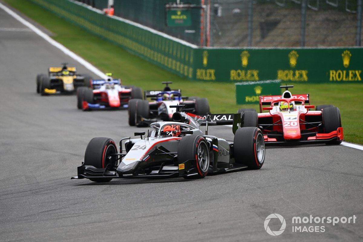 Nikita Mazepin, Hitech Grand Prix, Mick Schumacher, Prema Racing, Louis Deletraz, Charouz Racing System