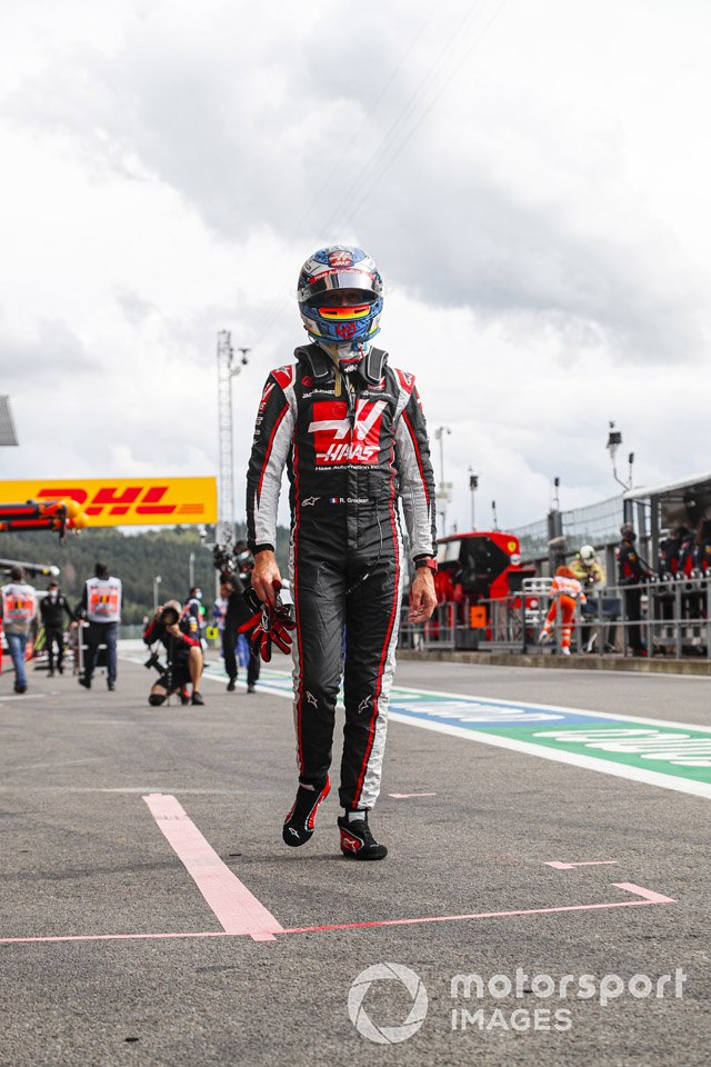 Ромен Грожан, Haas F1, на пит-лейне