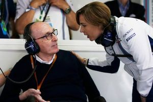 Claire Williams, Subdirectora del equipo Williams con su padre Sir Frank Williams, Director del equipo