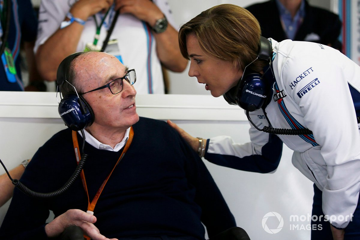 Claire Williams, Williams Deputy Team Principal con suo padre Sir Frank Williams, Team Principal