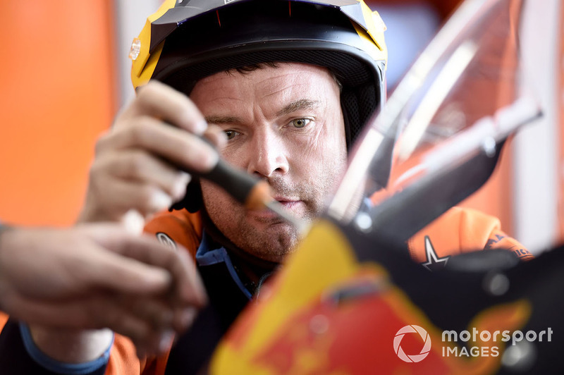 Red Bull KTM Factory Racing Mechanic at work