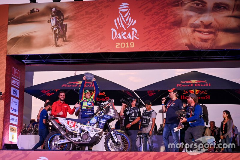 Straver no pódio do Dakar 2019