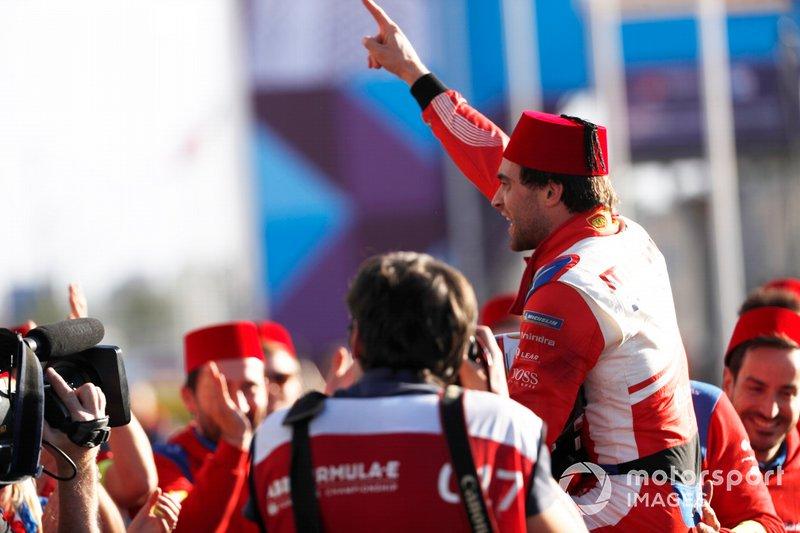 Jérôme d'Ambrosio, de Mahindra Racing, ganó el ePrix de Marrakech