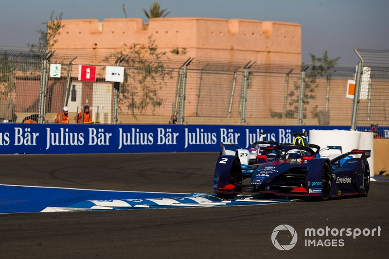 Sam Bird, Envision Virgin Racing, Audi e-tron FE05, Alexander Sims, BMW i Andretti Motorsports, BMW iFE.18