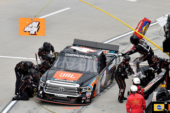 Todd Gilliland, Kyle Busch Motorsports, Toyota Tundra JBL/SiriusXM, makes a pit stop