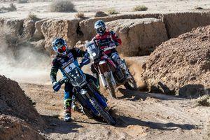 #6 Yamalube Yamaha Official Rally Team: Adrien Van Beveren, #11 Monster Energy Honda: Ricky Brabec