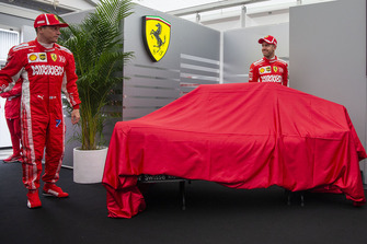Kimi Raikkonen, Ferrari and Sebastian Vettel, Ferrari at the new Ferrari livery unveil