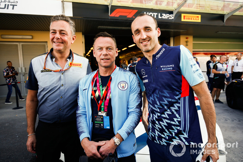 Paul Dickov y Robert Kubica, Williams Racing
