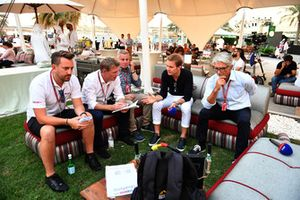 Simon Lazenby, Sky TV, Johnny Herbert, Sky TV, Nico Rosberg, Mercedes-Benz Ambassador and Damon Hill, Sky TV