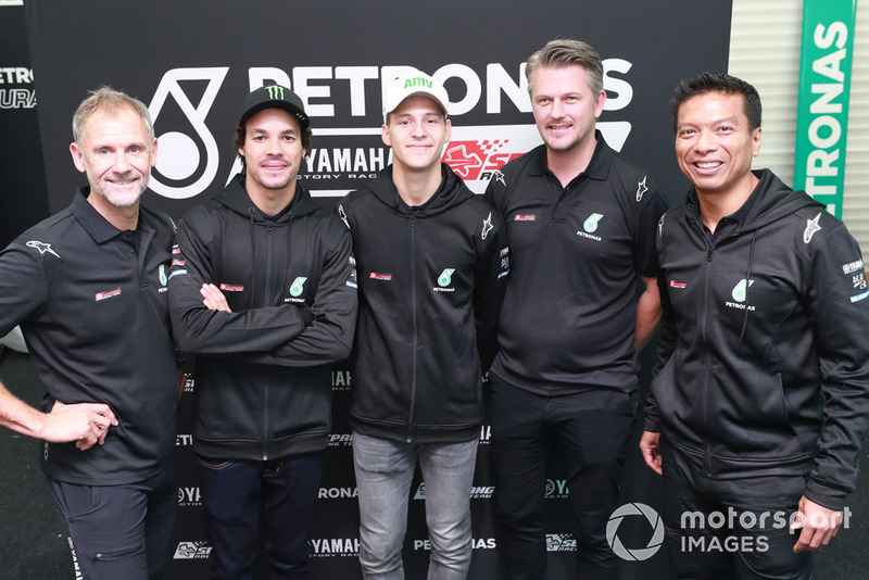 Wilco Zeelenberg, Franco Morbidelli, Fabio Quartararo, Razlan Razali, Petronas Yamaha SRT