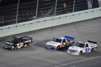 Harrison Burton, Kyle Busch Motorsports, Toyota Tundra DEX Imaging, Johnny Sauter, GMS Racing, Chevrolet Silverado ISM Connect and Austin Hill, Young's Motorsports, Chevrolet Silverado Young's Building Systems/Randco