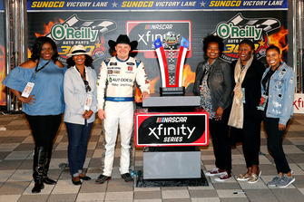 Cole Custer, Stewart-Haas Racing, Ford Mustang Autodesk celebrates in victory lane