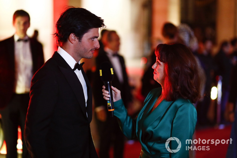 Carlos Sainz Jr. Being interviewed on the red carpet