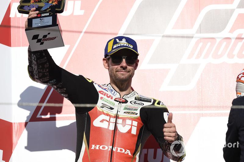 Podio: il secondo classificato Cal Crutchlow, Team LCR Honda