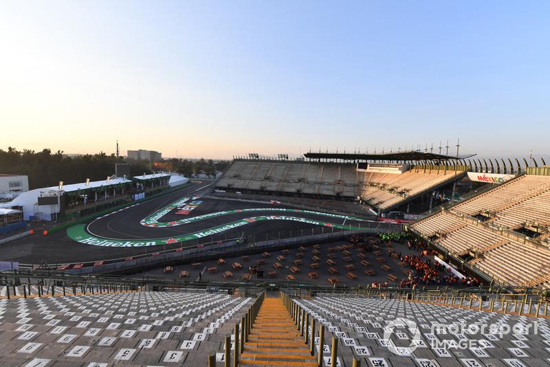 Vista de la pista sección de estadio