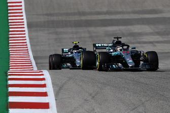Lewis Hamilton, Mercedes AMG F1 W09 EQ Power+ and Valtteri Bottas, Mercedes AMG F1 W09 EQ Power+