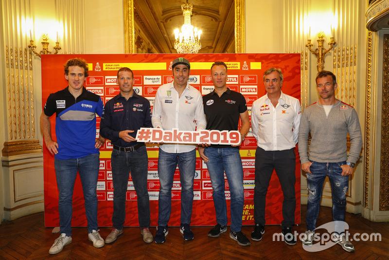 Xavier de Soultrait, Mathieu Baumel, Nani Roma, Carlos Sainz y Sébastien Loeb
