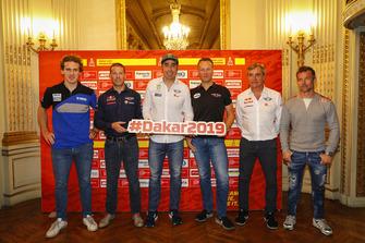 Xavier de Soultrait, Mathieu Baumel, Nani Roma, Carlos Sainz et Sébastien Loeb