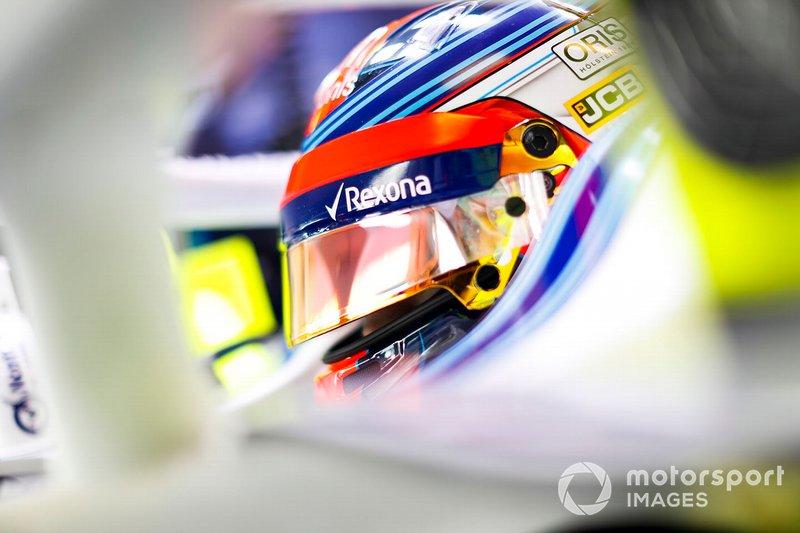 Robert Kubica, Williams Martini Racing, nell'abitacolo della sua monoposto