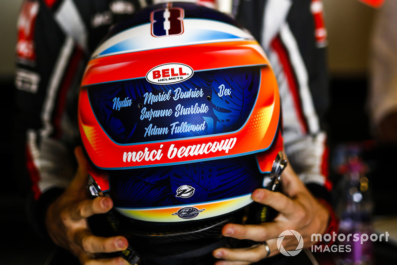 Romain Grosjean, Haas F1 Team, con su casco