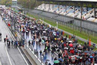 Parrilla de salida de las Blancpain en Monza