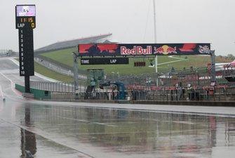 Rain on track