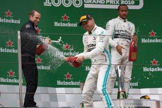 Valtteri Bottas, Mercedes AMG F1, deuxième, sur le podium